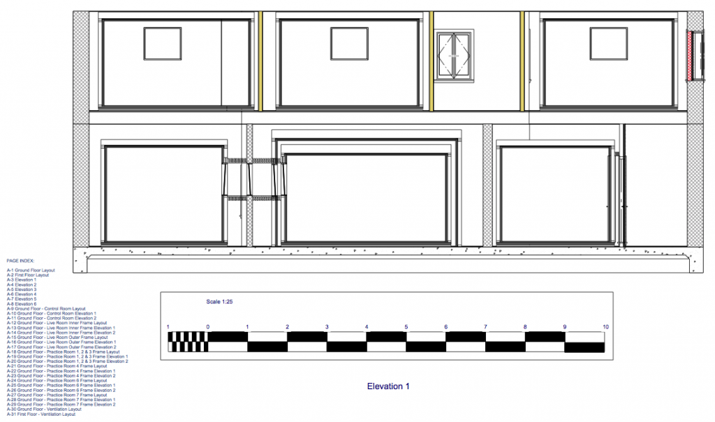 Recording Studio Design Elevation
